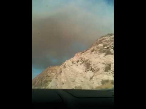 Fire near Palmdale, CA