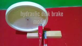 how to make hydraulic disk brake modal for school projects