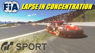 GT Sport Lapse In Concentration FIA Manufacturer Round 1