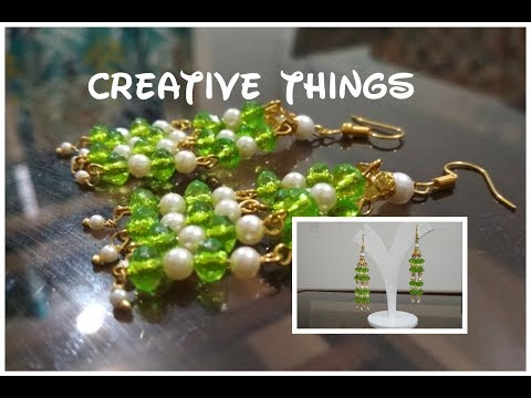 Handmade Jewelry    How To Make Crystal Beads Earring At Home   Creative Things