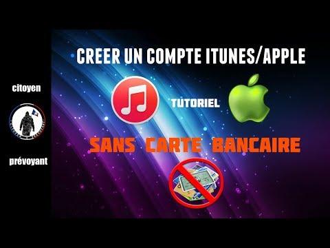 Tutoriel: créer un compte itunes /apple sans carte bancaire