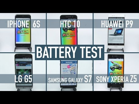 Smartphone battery test: iPhone 6S v Galaxy S7 v HTC 10 v LG G5 v Huawei P9 v Xperia Z5