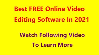 Best FREE Online  Editing Software In 2021