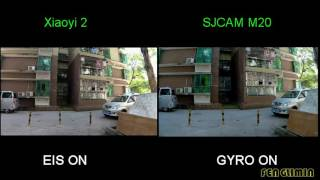 XIAOYI 2 VS SJCAM M20 Stabilization Performance Comparison