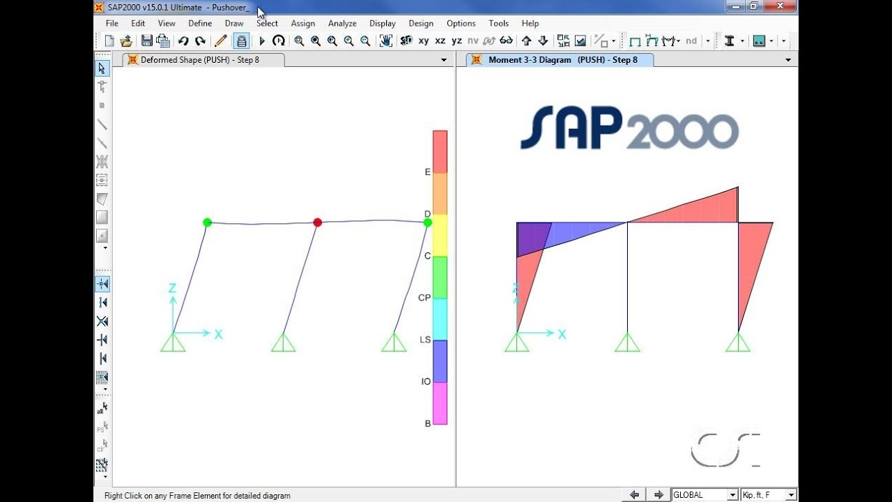 Sap2000 21 Static Pushover Analysis Watch Amp Learn Youtube