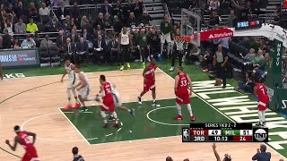 3rd Quarter, One Box Video: Milwaukee Bucks vs. Toronto Raptors