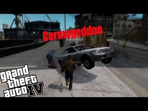 GTA IV Carmageddon Mod - Part 1 - OMGG! There Everywhere
