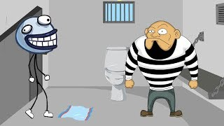 Stickman Jailbreak vs Troll Face Video Games Funny Gameplay Video