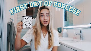 MY FIRST DAY OF COLLEGE (grwm + vlog)