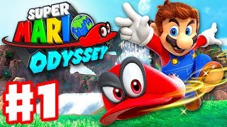 Super Mario Odyssey - Gameplay Walkthrough Part 1 - Cap and Cascade Kingdom! (Nintendo Switch)