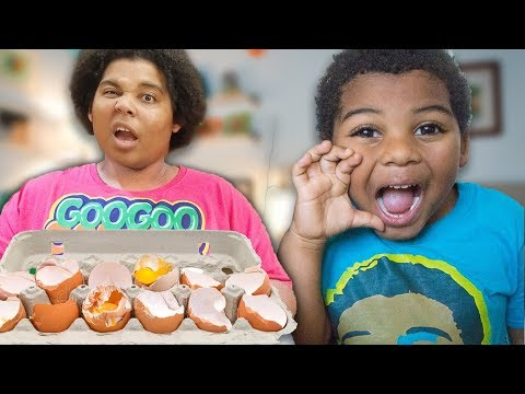 GOO GOO MOM PRETEND PLAY BREAKFAST SHOPPING AT TARGET! LEARN TO EAT HEALTHY FOODS
