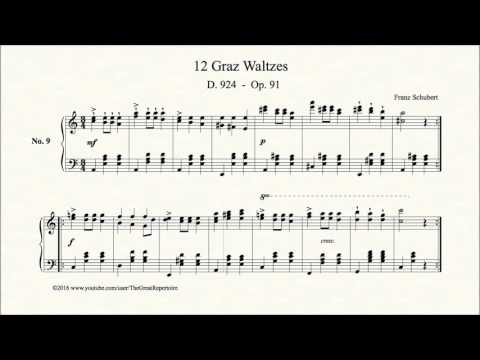 Шуберт Франц - Works for piano solo D.924 12 Grazer Walzer