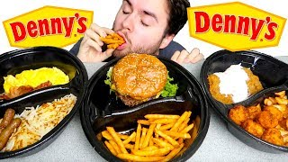 Denny's MUKBANG FEAST | Dinner, Lunch, & Breakfast Eating Show!