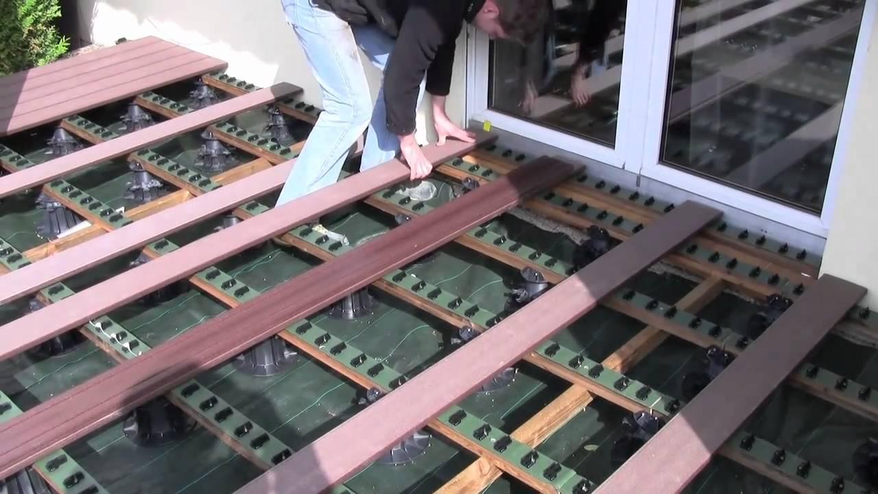 terrasse bois composite mode d emploi, photo vu sur  youtubecom