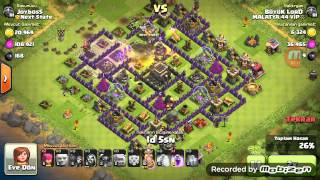Clash of Clans: TH8 Golem Büyücü Pekka (GoWiPe) Sa
