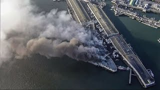 Fire Destroys Pier 45 Warehouse on San Francisco's Fisherman's Wharf