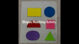 Shapes Activity to Keep your Toddler Busy, Quiet Time Activity
