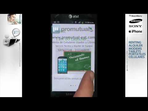 Como instalar y poner temas en celulares Android Samsung Galaxy S o Samsung Galaxy Ace 5830