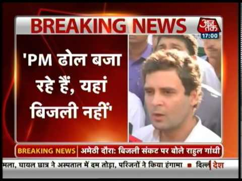 PM Modi beating drums, but can't bring electricity: Rahul Gandhi