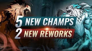 MASSIVE CHANGES: 5 NEW CHAMPIONS + 2 NEW REWORKS - League of Legends Season 10