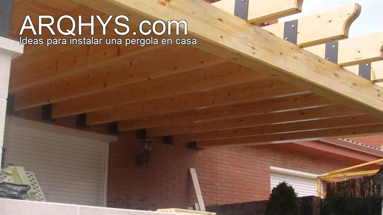 Ideas para instalar una pergola en casa youtube for Cobertizo de madera ideas de disenos