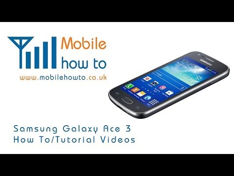 How To Set Notification message Alert Tone -  Samsung Galaxy Ace 3 video