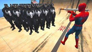 GTA 5 Spiderman Vs Venom Ragdolls Compilation #2 (GTA 5,Euphoria Physics,Fails,Funny Moments)