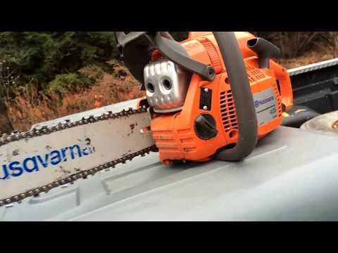 How to use a chainsaw Husqvarna 435 chainsaw review and run
