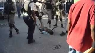 Haiti Police getting abusive after election results