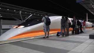 2015.7.9 THSRC 台灣高鐵 台南車站 月台 夜景 700T列車進站