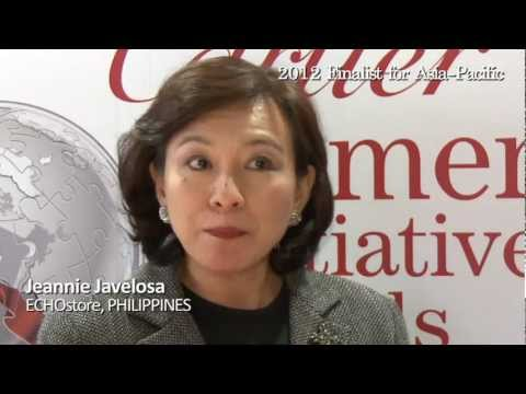 Jeannie Javelosa - 2012 Finalist for Asia-Pacific - interview at the Women's Forum