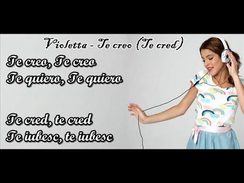 Violetta - Te creo lyrics (romana)