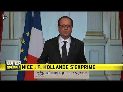 François Hollande réagit à l'attentat de Nice