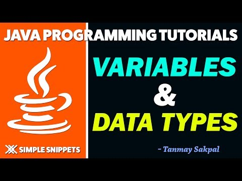 Java Variables & Data Types with Program Example | Java Tutorials for Beginners