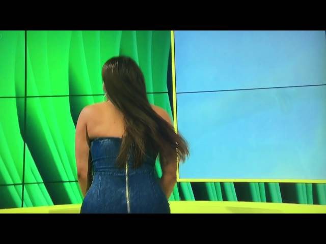Lateysha - Tweaking on BBBOTS and dress split. Best Moment on LIVE television.
