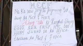 Mawkyrwat Electricity Consumers Forum shut down  the office of FEDCO Company at  MePDCL Mawkyrwat