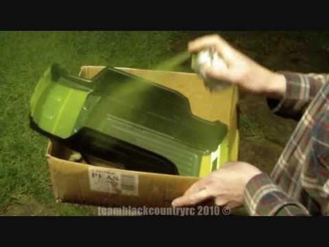 how to paint lexan bodyshell tutorial rc car traxxas emaxx proline hummer h2