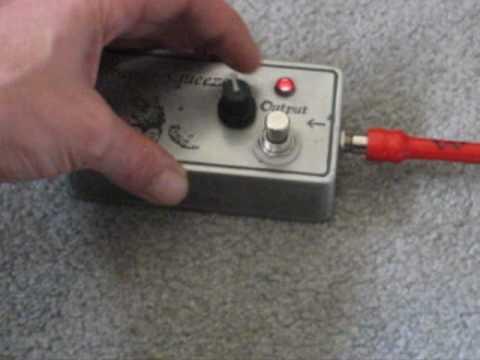 DIY Guitar Effects Pedal Demo - Orange Squeezer Clone