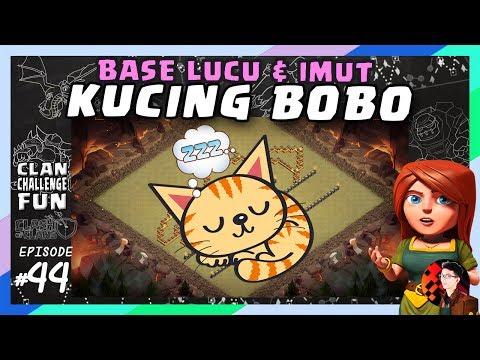 BASE CoC KUCING TIDUR YANG LUCU!   CLAN CHALLENGE FUN #44