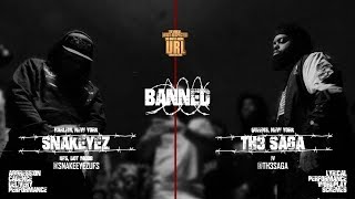 BANNED: TH3 SAGA VS SNAKE EYEZ RAP BATTLE | URLTV