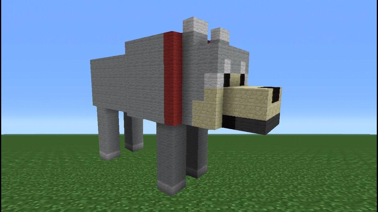 minecraft how to draw a dog