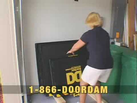 No More Sandbags!  DoorDam Adjustable Flood Protection