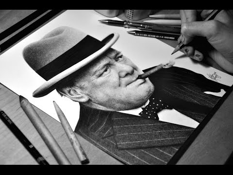 Drawing Winston Churchill - Graphite