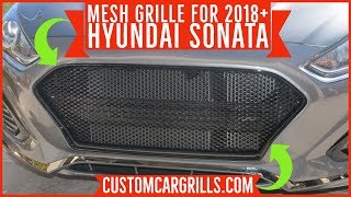 Hyundai Sonata 2018+ Mesh Grill Installation How-To by customcargrills.com