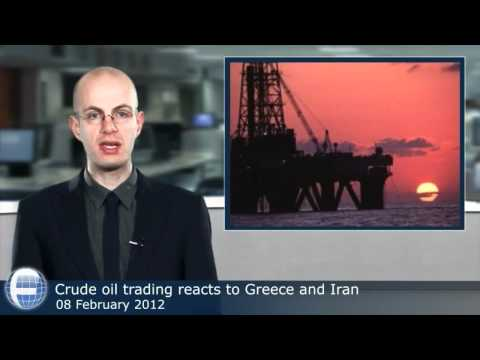 Crude oil trading reacts to Greece and Iran