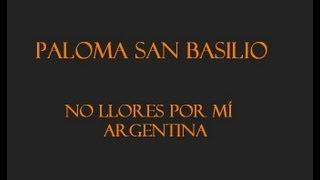 Paloma San Basilio No Llores Por Mí Argentina Spanyol Magyar