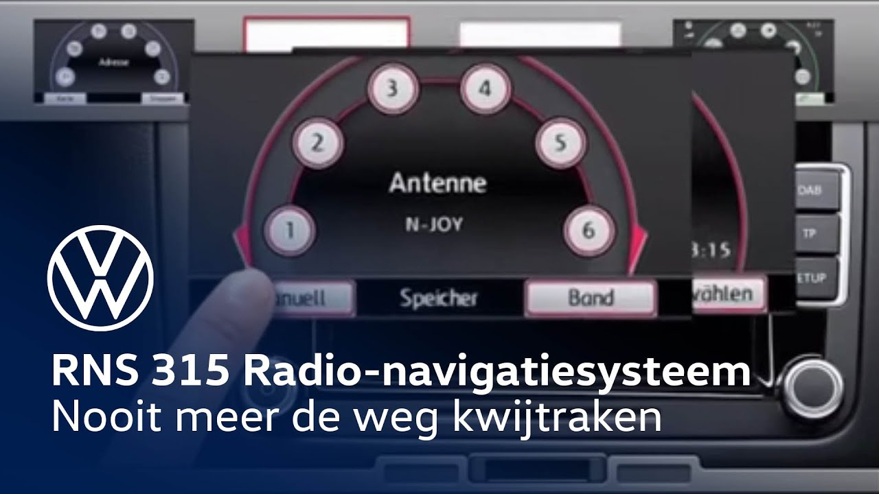 volkswagen rns 315 radio navigatiesysteem youtube. Black Bedroom Furniture Sets. Home Design Ideas