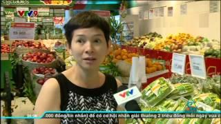 Rau sạch VinEco tại siêu thị VinMart trong bản tin VTV9