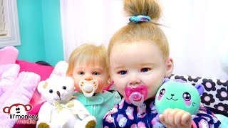 My Reborns! Night Routine with Julie and Adeline!