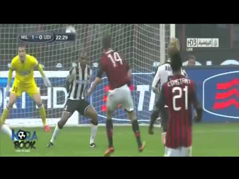 a.c.Milan-Udinese:1-0 highlights+gol! (19-10-13)